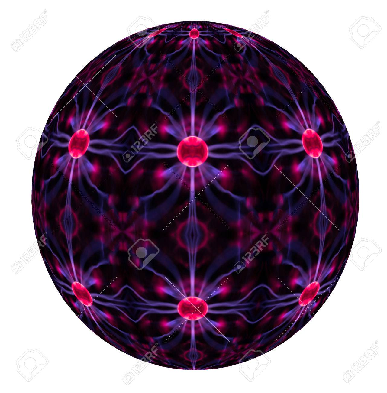 An Abstract View Of A Plasma Ball From Tesla Lamp Toy Image Stock Photo    62538974