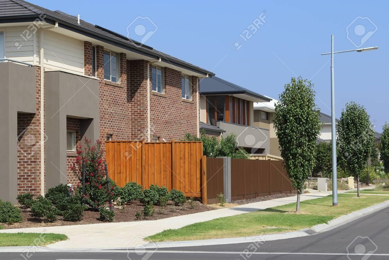 Stijlvolle en eigentijdse huizen melbourne australië royalty vrije