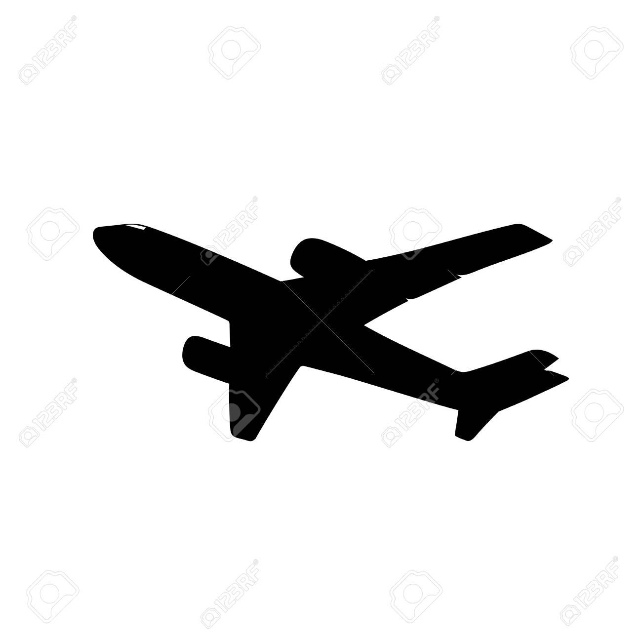 これは飛行機のシルエットのイラストのイラスト素材ベクタ Image