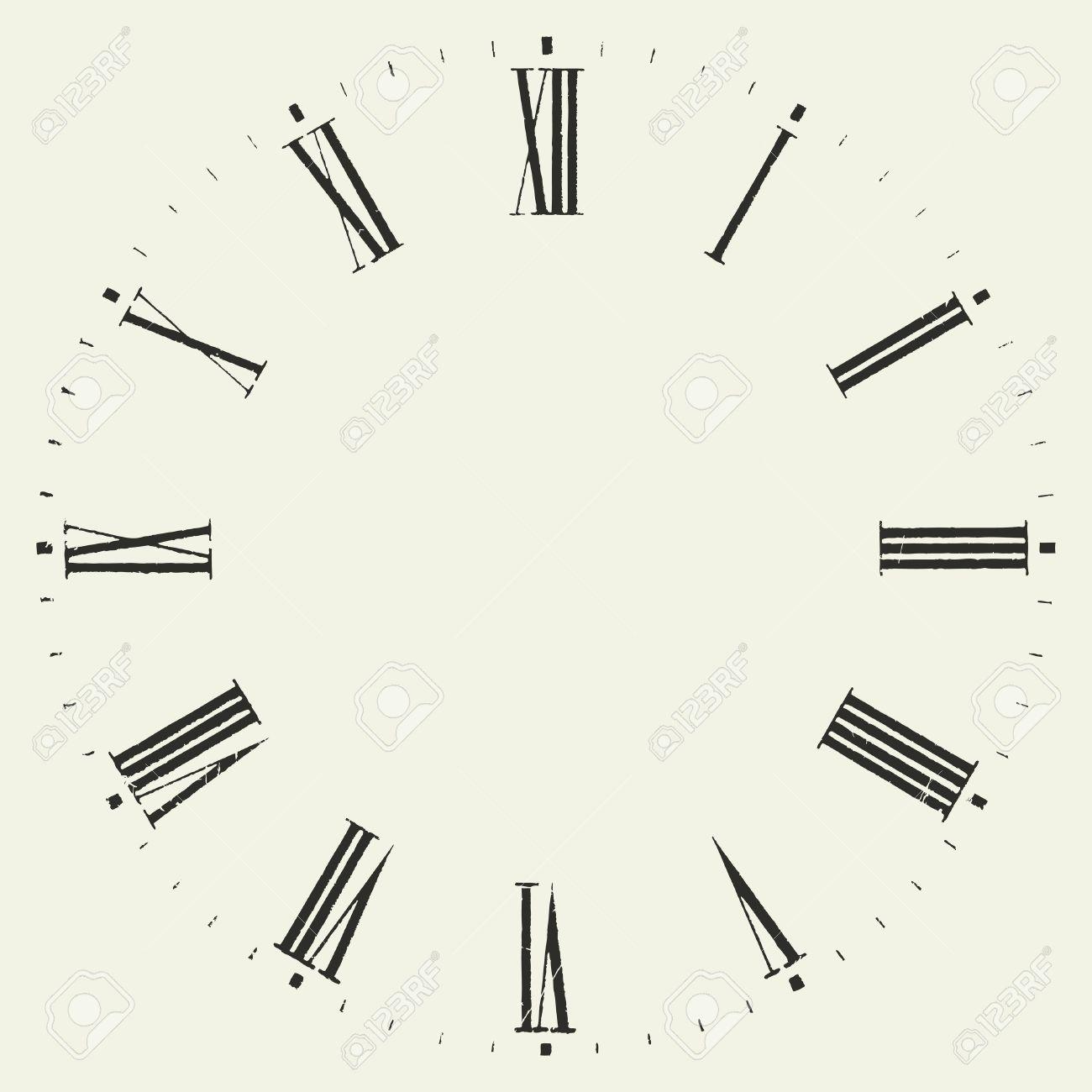 vintage dial vector roman numeral clock royalty free cliparts