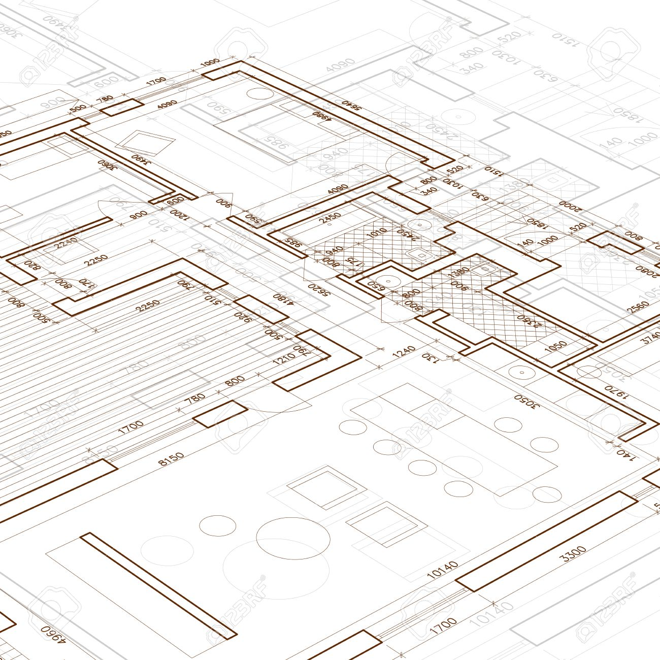 Architectural blueprint vector drawing background royalty free architectural blueprint vector drawing background stock vector 39970418 malvernweather Images