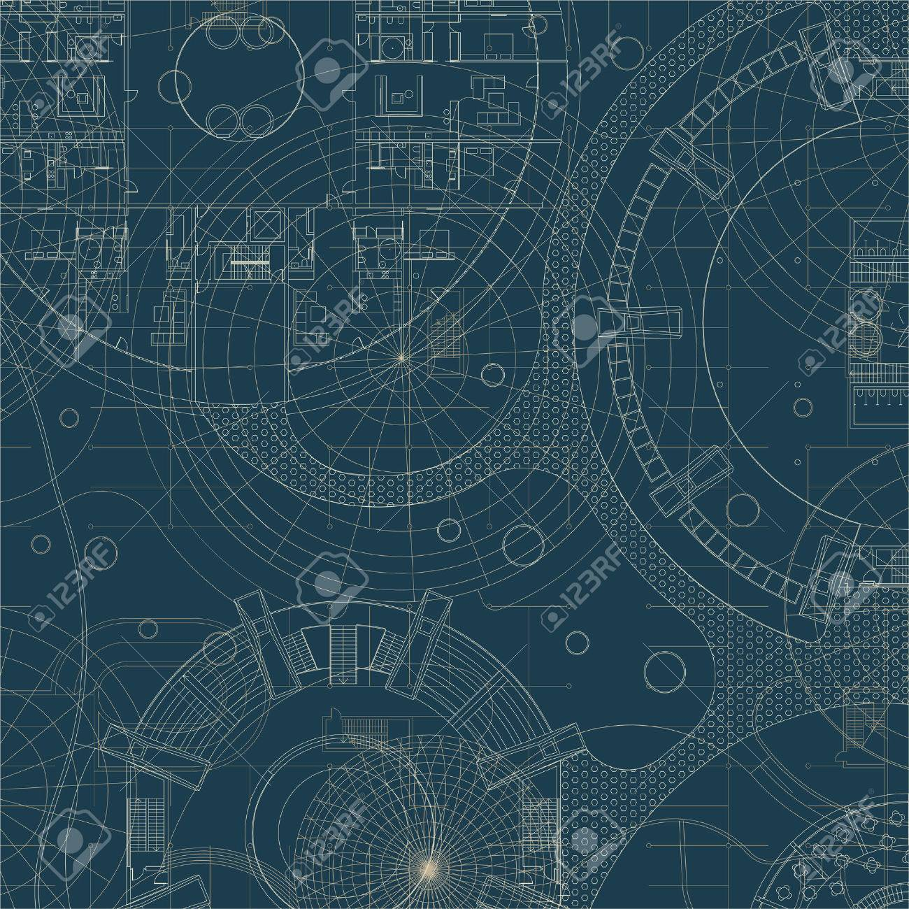 Architectural Background Vector Building Plan Royalty Free