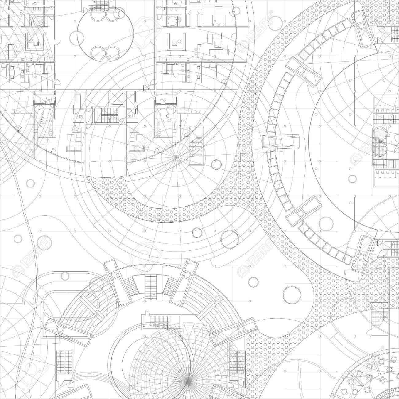 Royalty free illustration download hand drawing sketches architectural blueprint vector drawing background stock vector 39969951 malvernweather Gallery