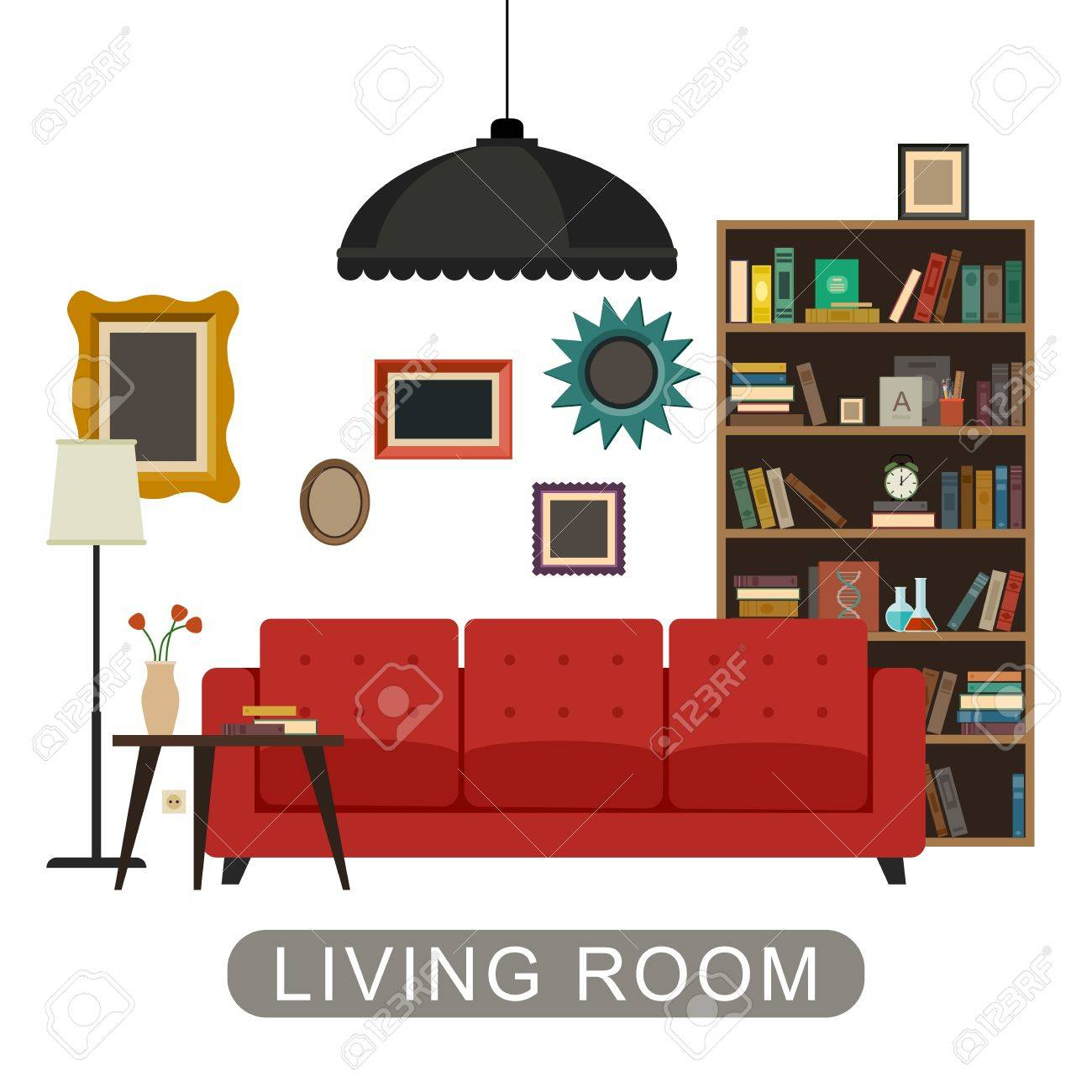 Living Room Furniture Vector Free Office