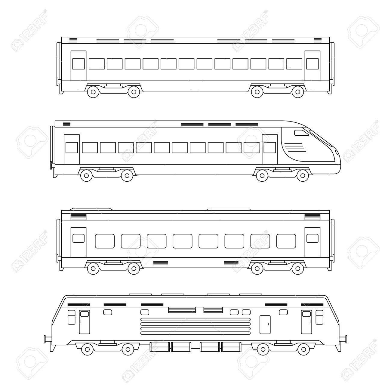 Züge Linie Zu Zeichnen Lizenzfrei Nutzbare Vektorgrafiken Clip