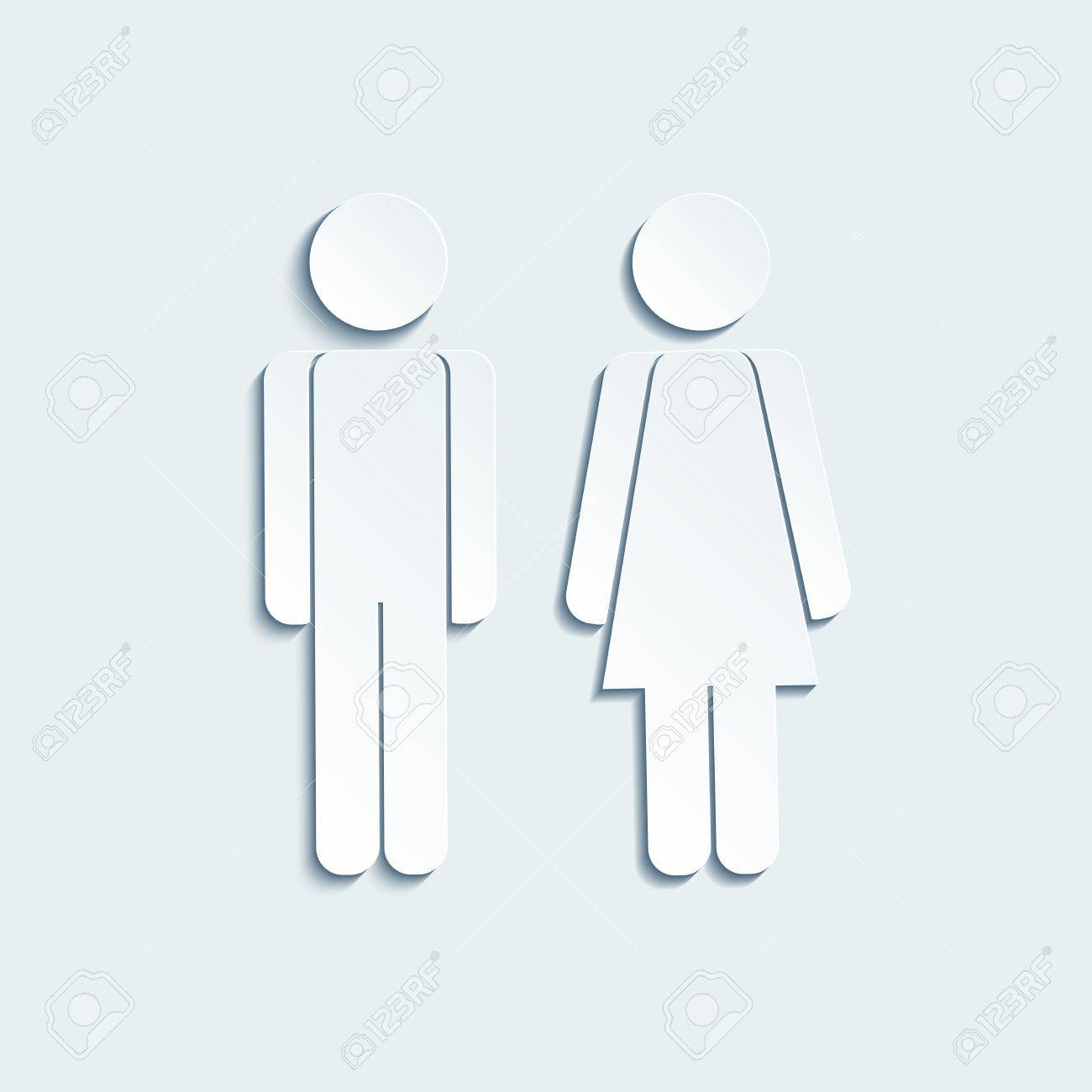 men s bathroom sign vector. Vector - Man And Woman Icons For Toilet Or Restroom Sign. Sign Of Gender On The Door In Men\u0027s Women\u0027s Restroom. Men S Bathroom