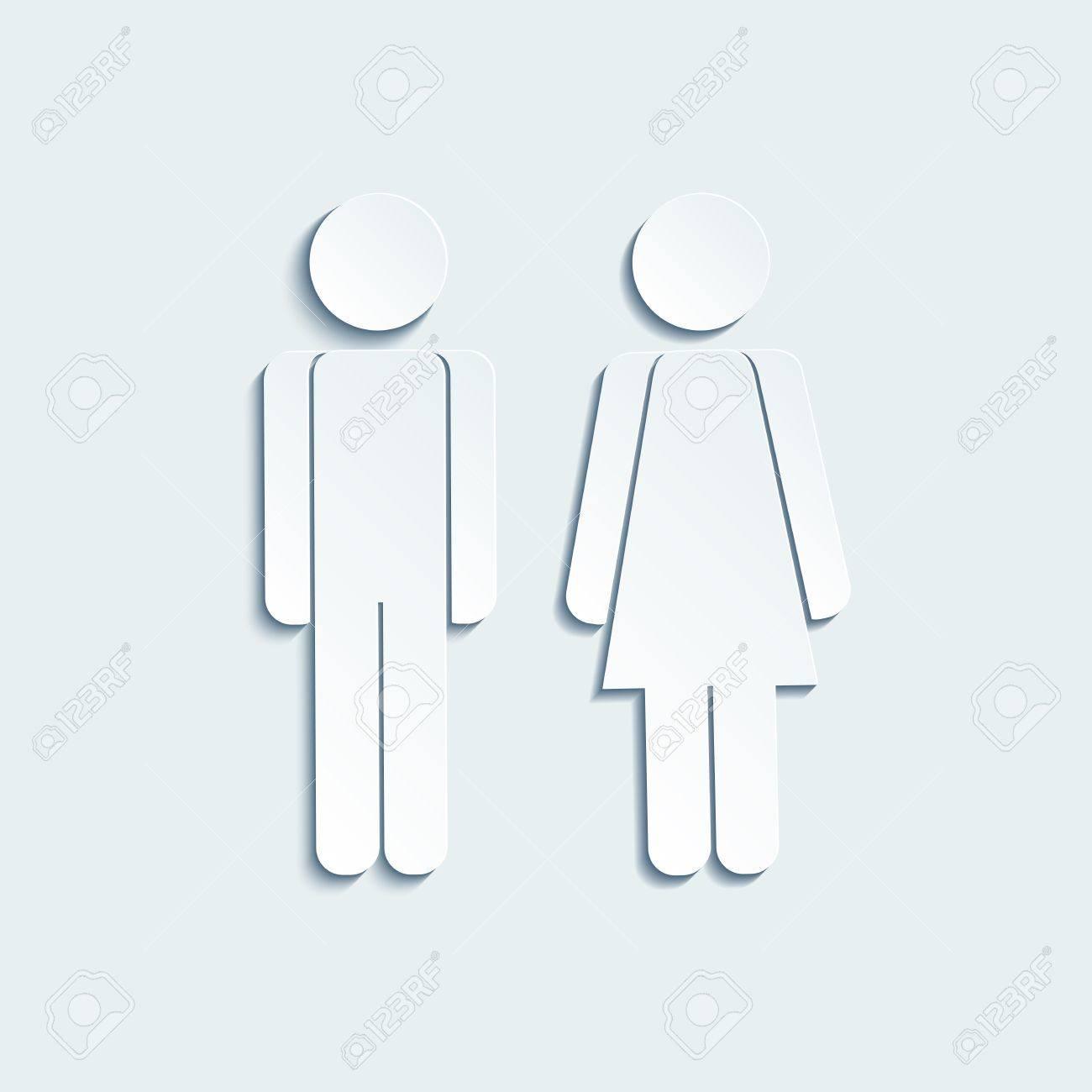 Mann vektor frau symbol Männliche Und