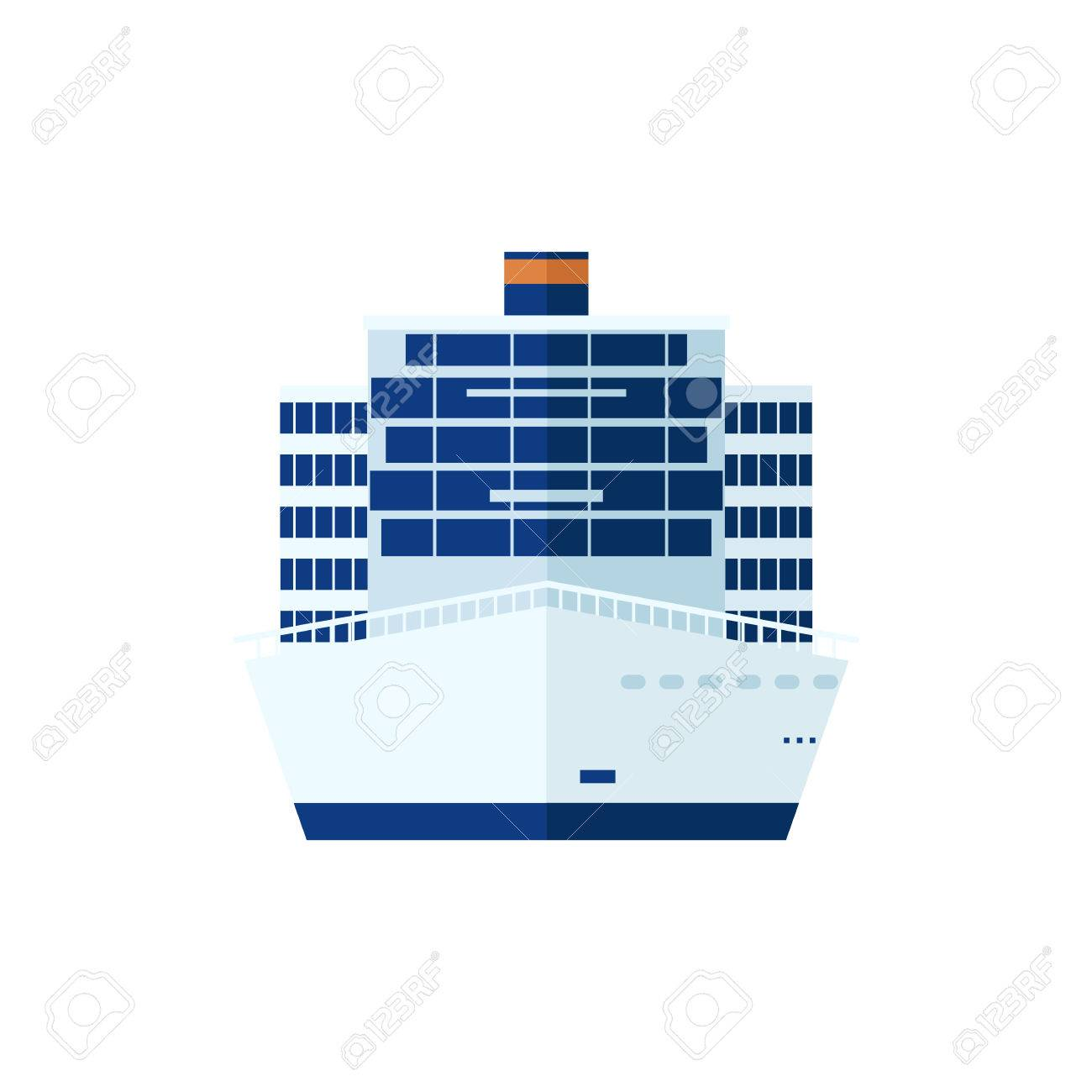 Stock vector illustration of cruise ship isolated front view of stock vector illustration of cruise ship isolated front view of cruise ship on white background pooptronica