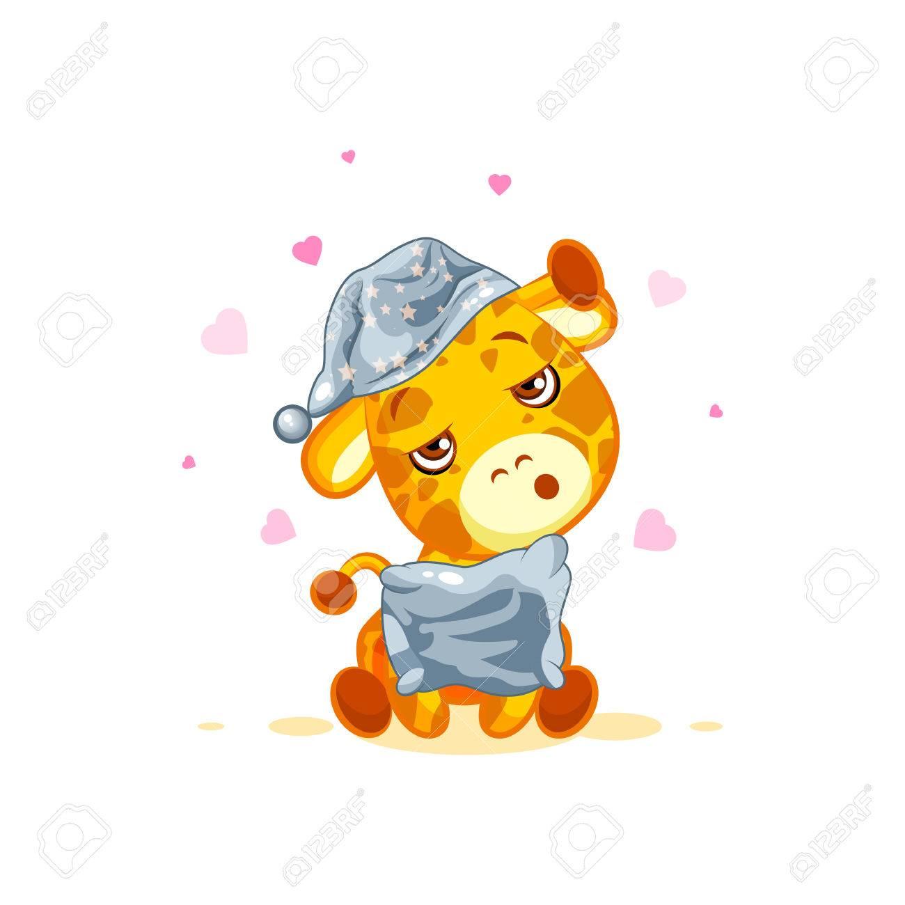 banque dimages emoji personnage dessin anim girafe malade avec un thermomtre en bouche moticne autocollant - Dessin Avec Emoji