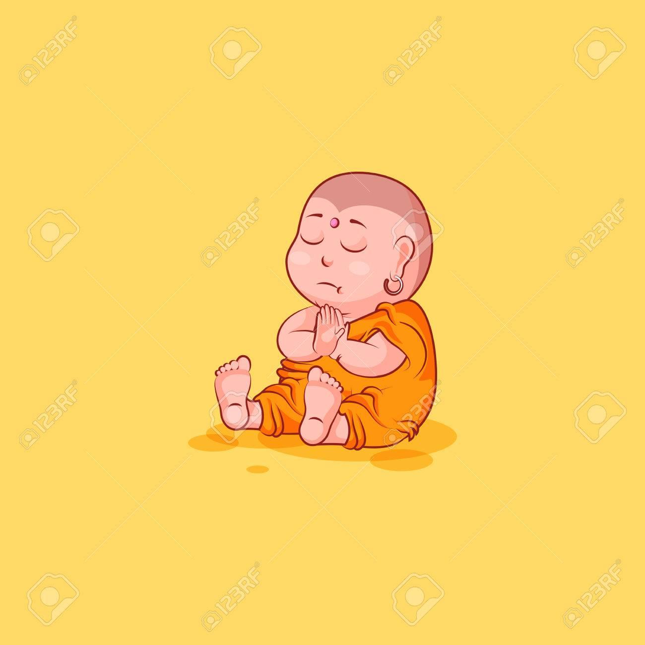 Sticker emoji emoticon emotion vector isolated illustration sticker emoji emoticon emotion vector isolated illustration unhappy character cartoon meditate buddha stock vector 77924650 biocorpaavc Image collections