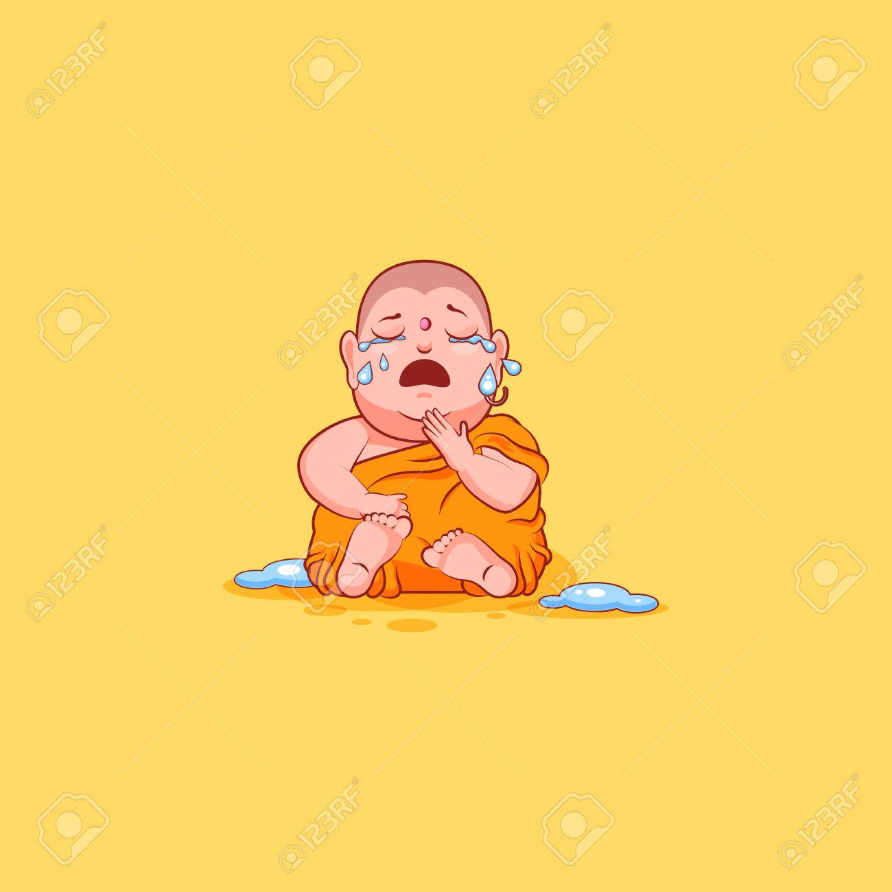Sticker emoji emoticon emotion vector isolated illustration sticker emoji emoticon emotion vector isolated illustration unhappy character cartoon buddha crying stock vector 77954437 biocorpaavc Image collections