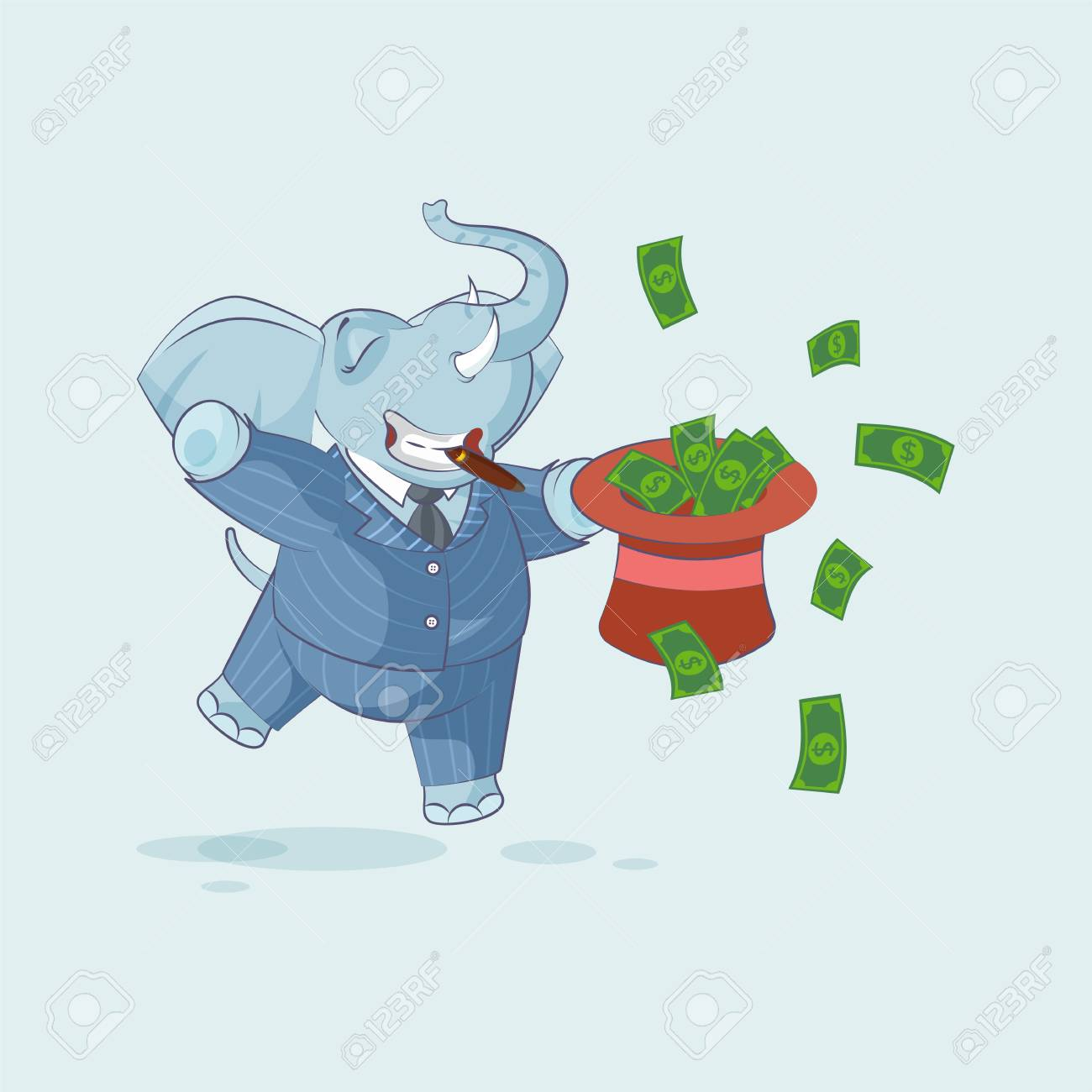 787fb694a Vector Stock Illustration isolated Emoji character cartoon wealth..