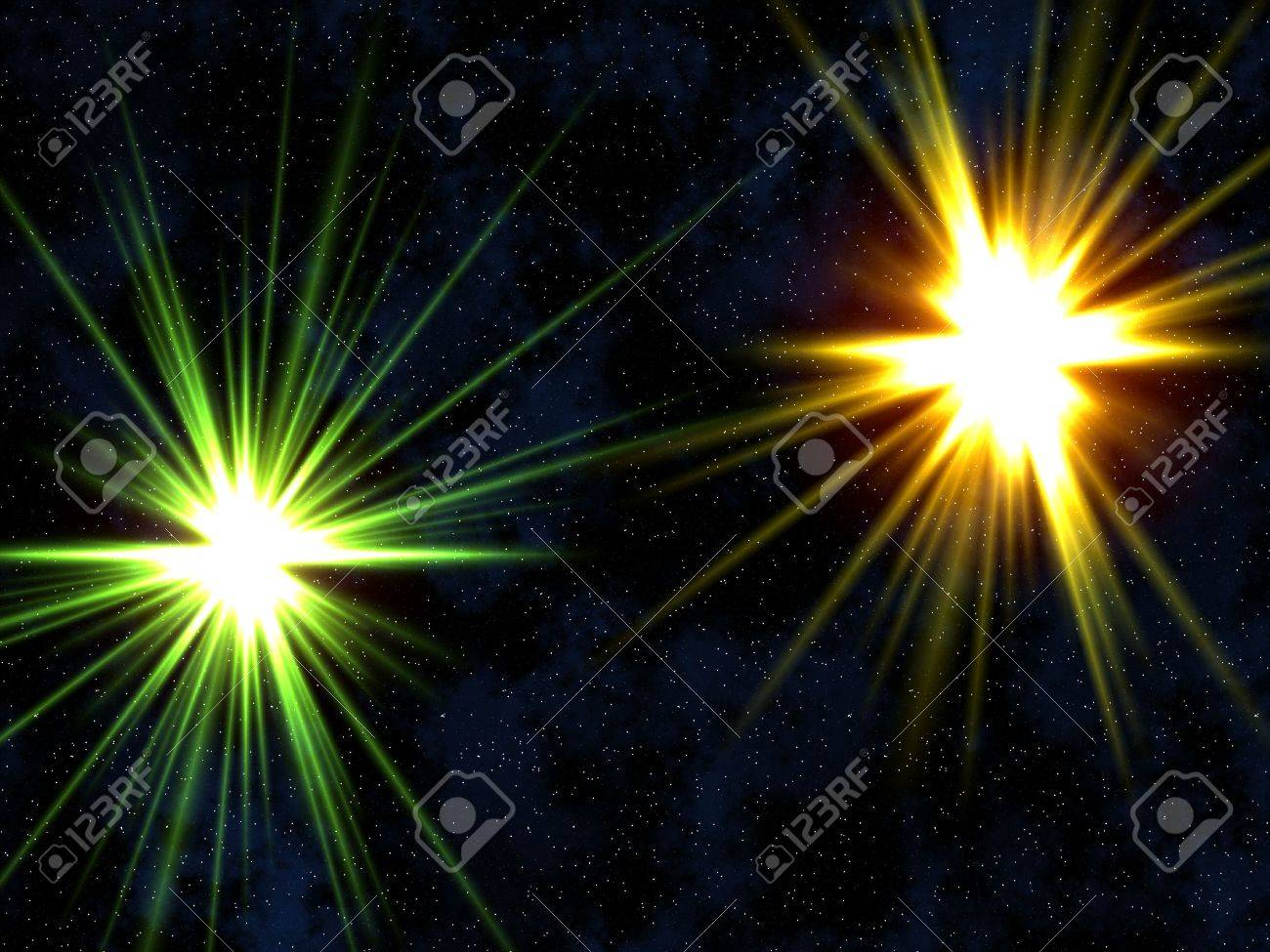 Two stars. Stock Photo - 2764888