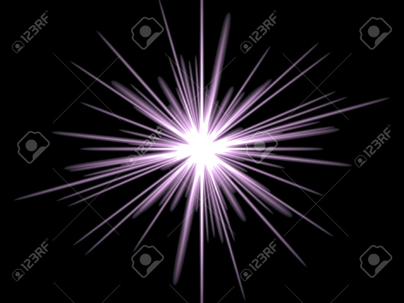 Violet star on a black background. Drawn in Photoshop. Stock Photo - 3118852