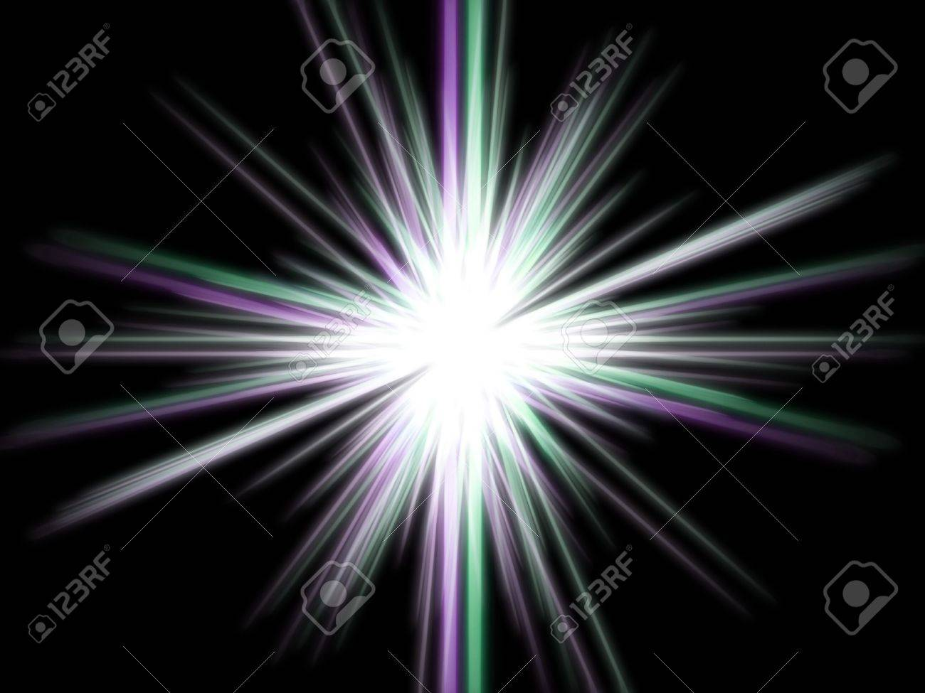 Violet star on a black background. Stock Photo - 3607040