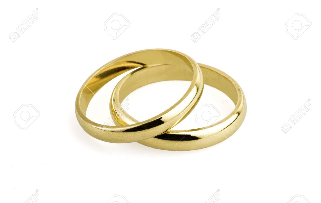 Old Wedding Rings clipping Path Stock Photo Picture And