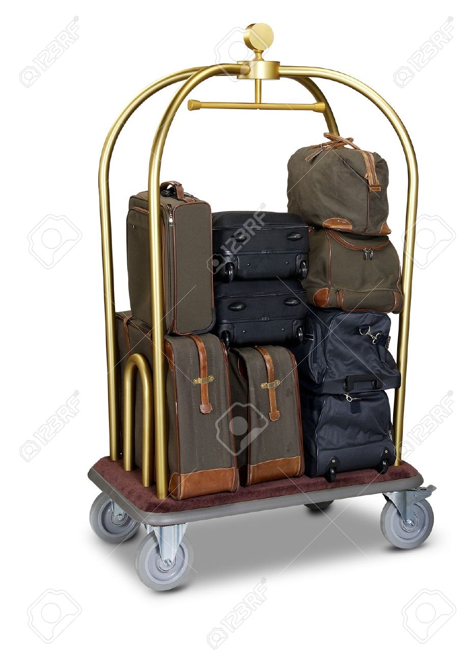 hotel baggage cart isolated on white background Standard-Bild - 12414276