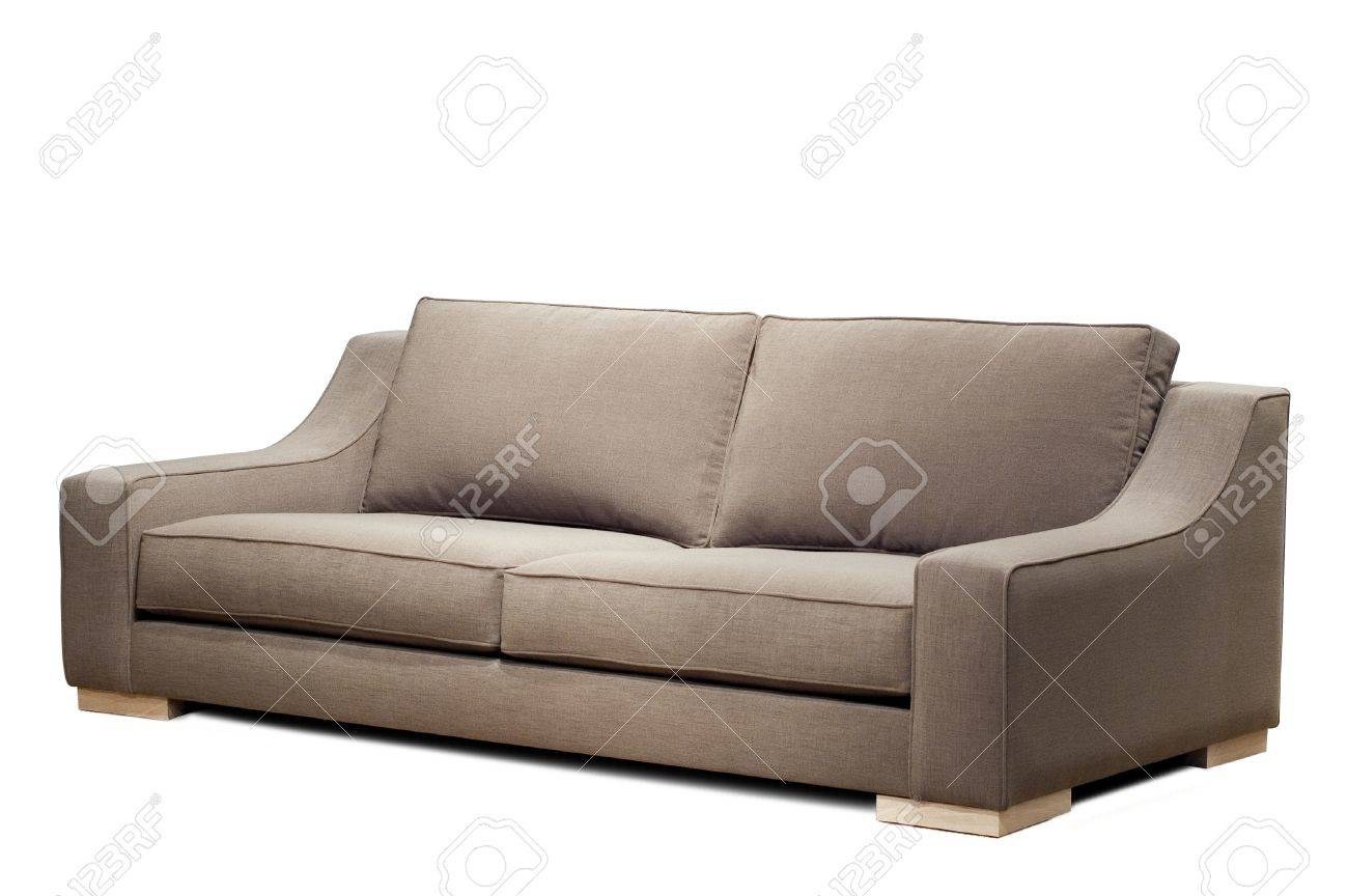 modern sofa on white background Standard-Bild - 12414235