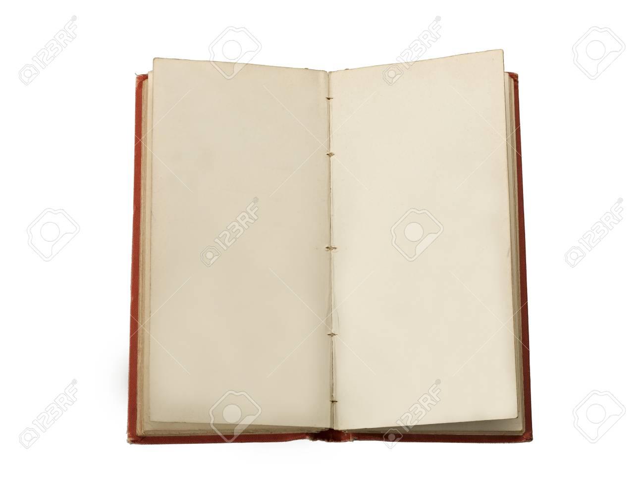 Ein Altes Buch Offen Zu Zwei Einander Gegenüberliegende Freie Seiten ...