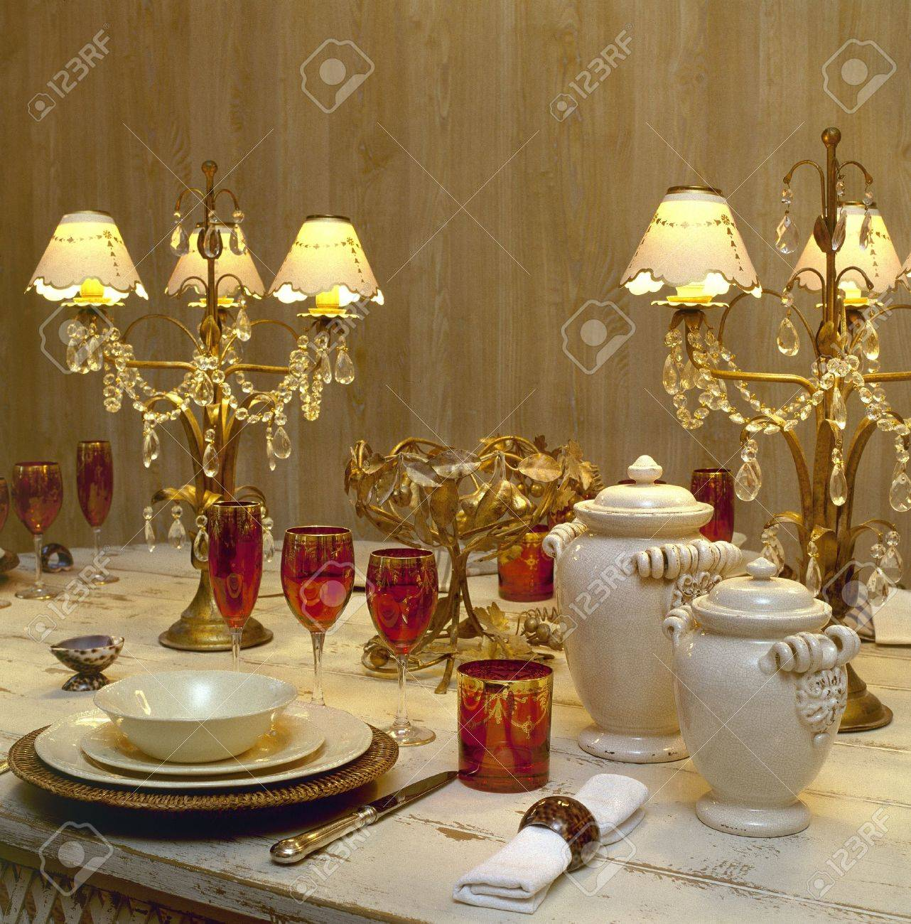 A decorated dining table Stock Photo - 15847496