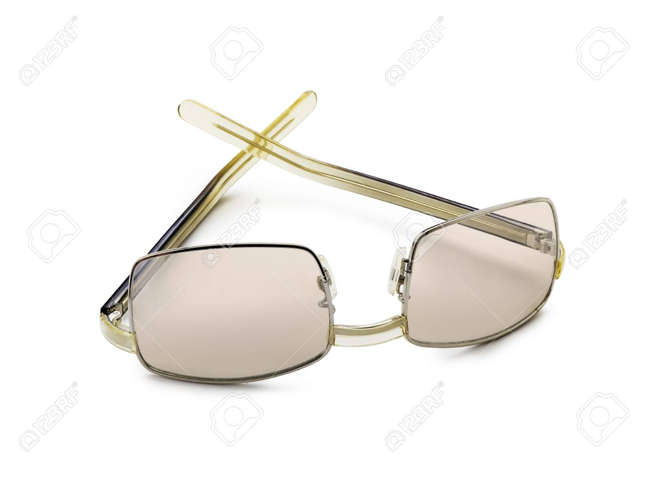 Brown sunglasses isolated on the white background Stock Photo - 17364112