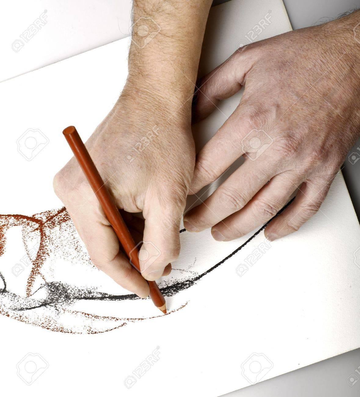 Drawning hands Standard-Bild - 17363931