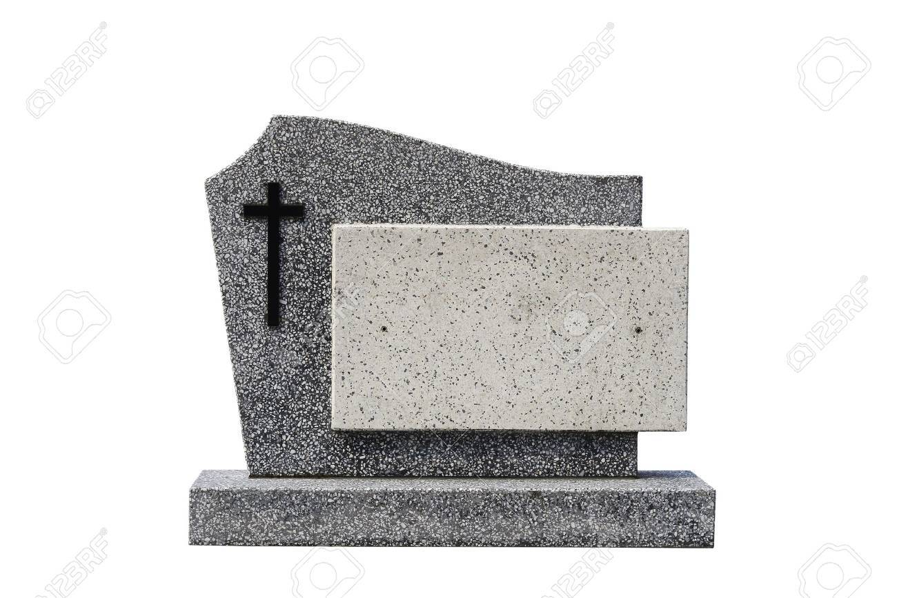 single grave stone cut out (Clipping path) Standard-Bild - 18827245