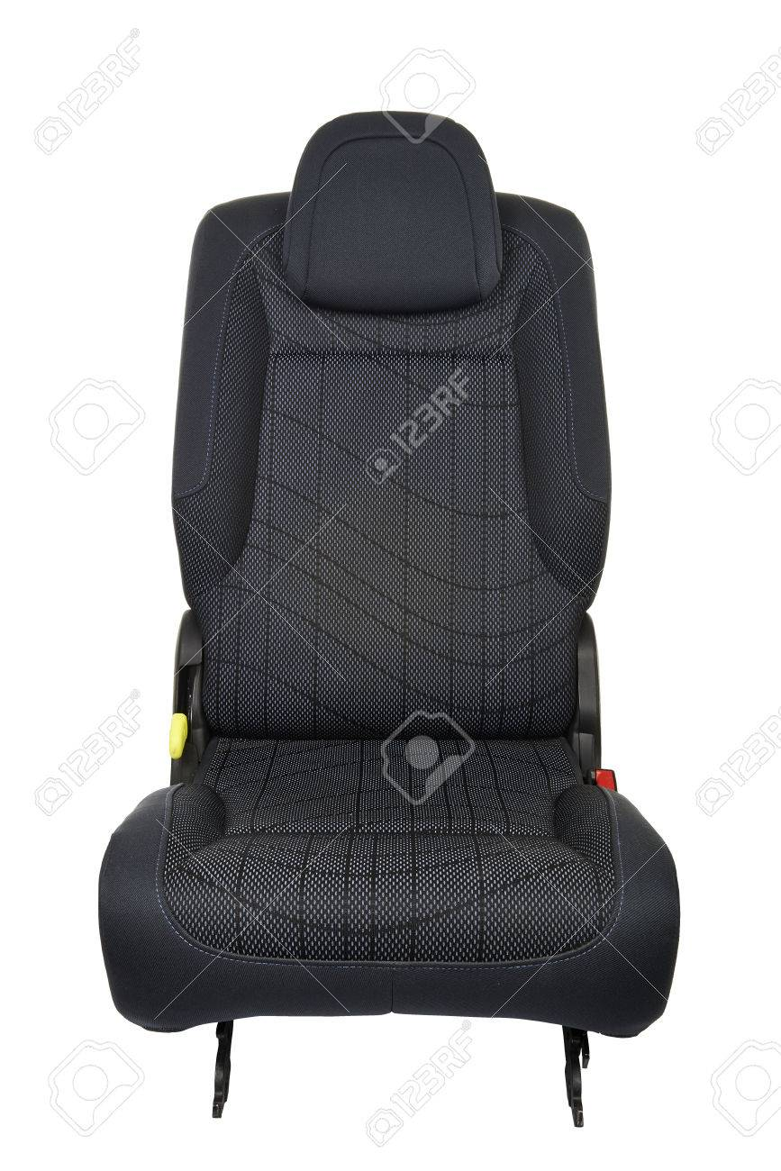 Car seat isolated on white background - front view Standard-Bild - 33692806