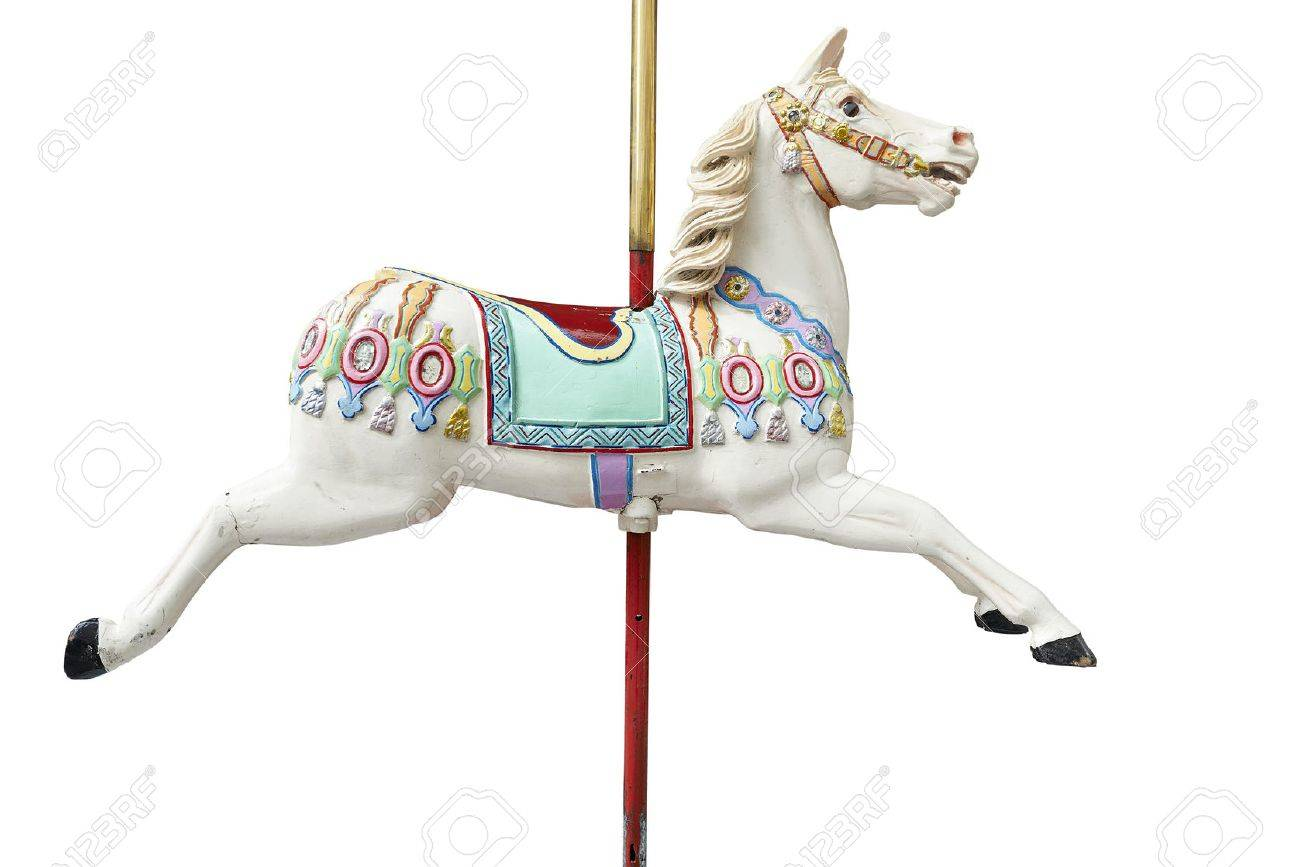 A classic carousel horse. Clipping path included. Standard-Bild - 46005599