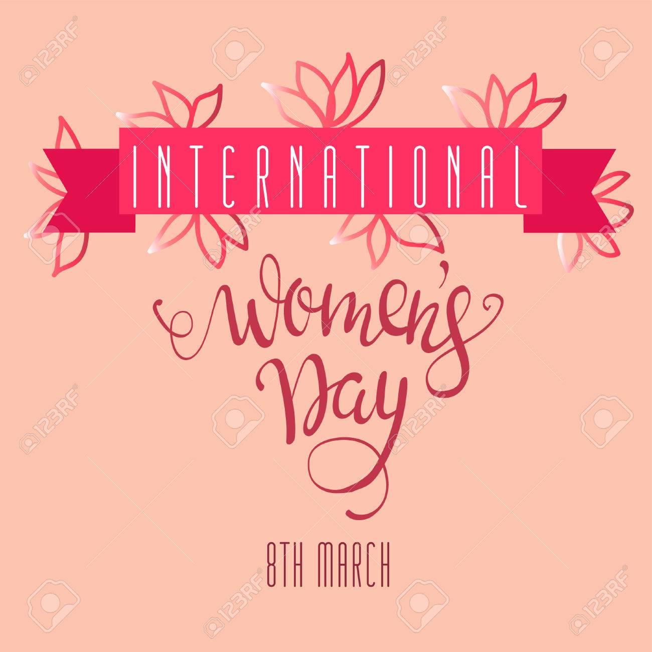 Affiche Pour La Journée De La Femme affiche pour la journée internationale des femmes avec des lettres