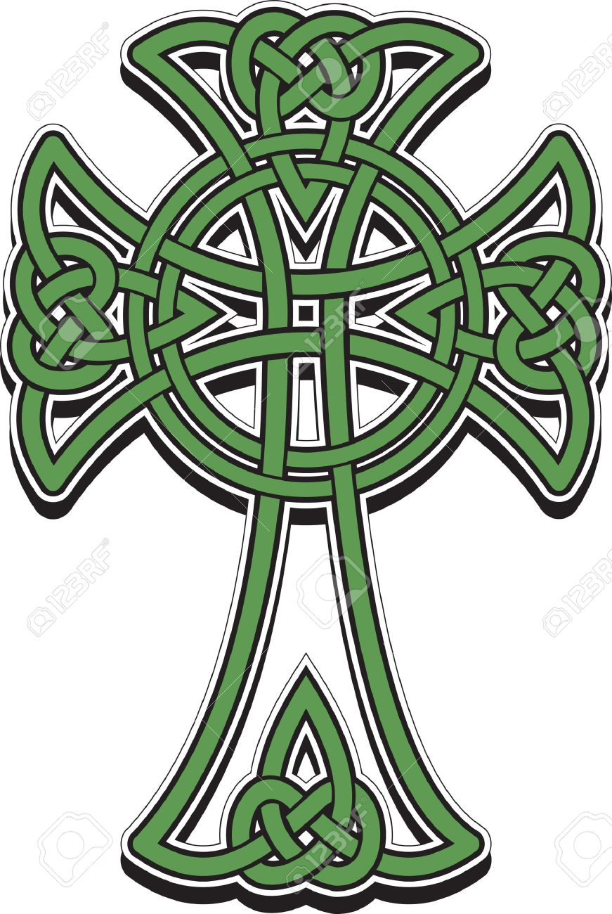 the celtic cross from the intertwined lines royalty free cliparts rh 123rf com celtic cross vector art celtic cross vector art free