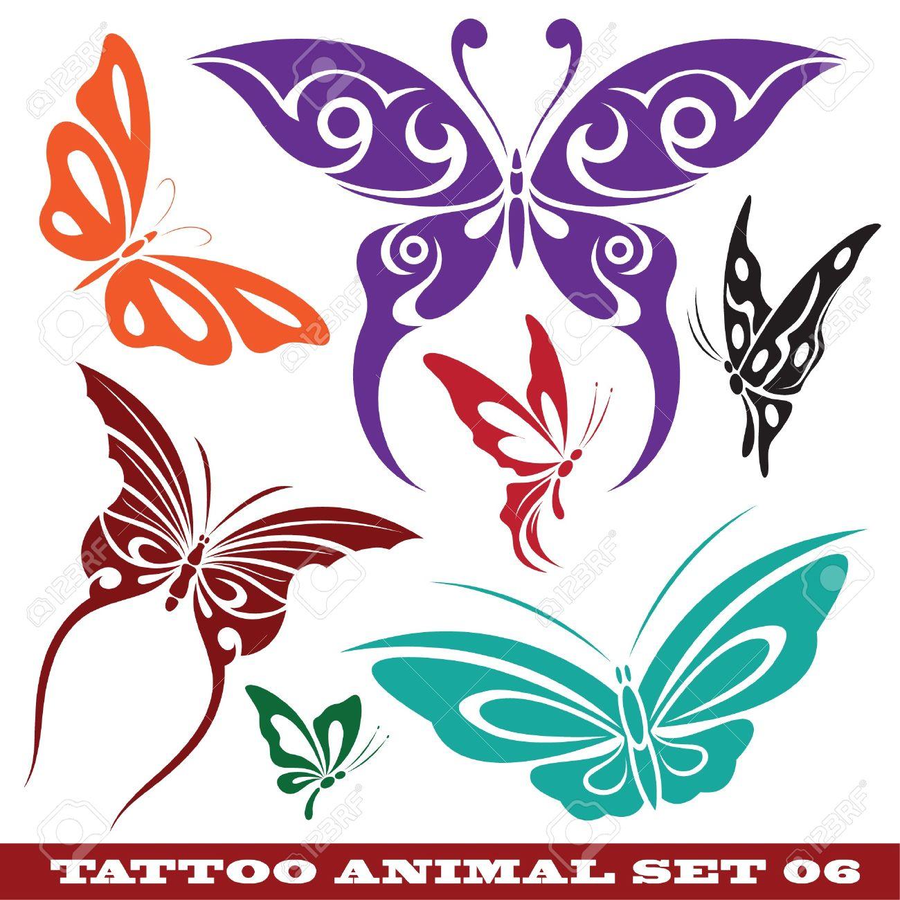 Plantillas De Mariposa Para Tatuaje Y Diseño Sobre Diferentes Temas