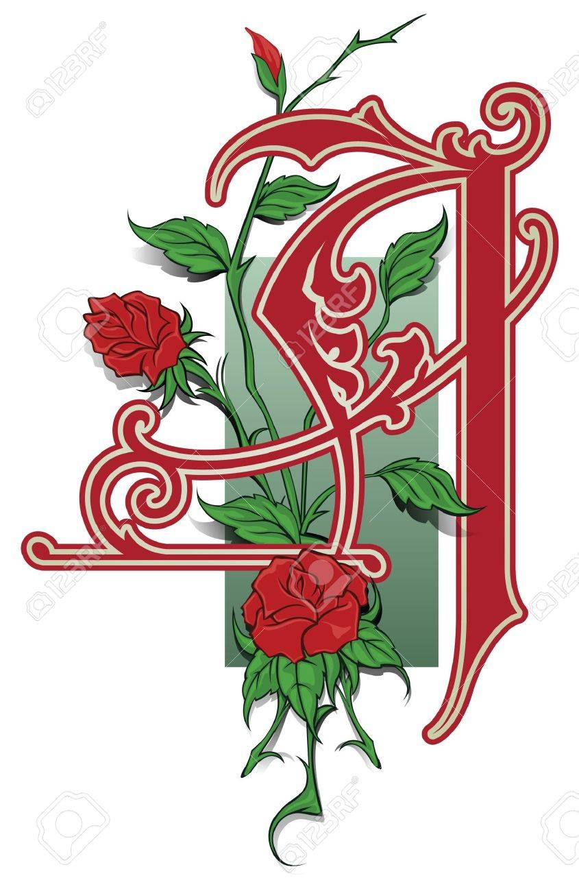 capitals and initials in the old style for decoration and design Stock Vector - 10059072