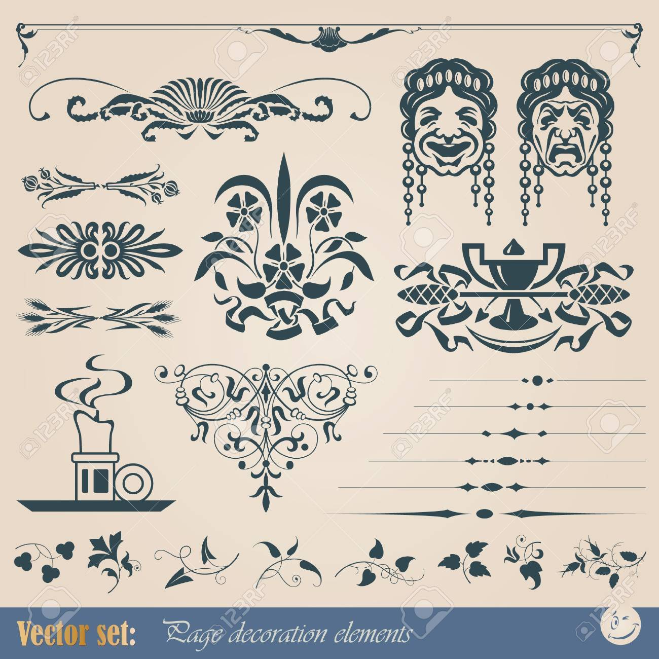 Decorative elements for design of printed materials Stock Vector - 10470472