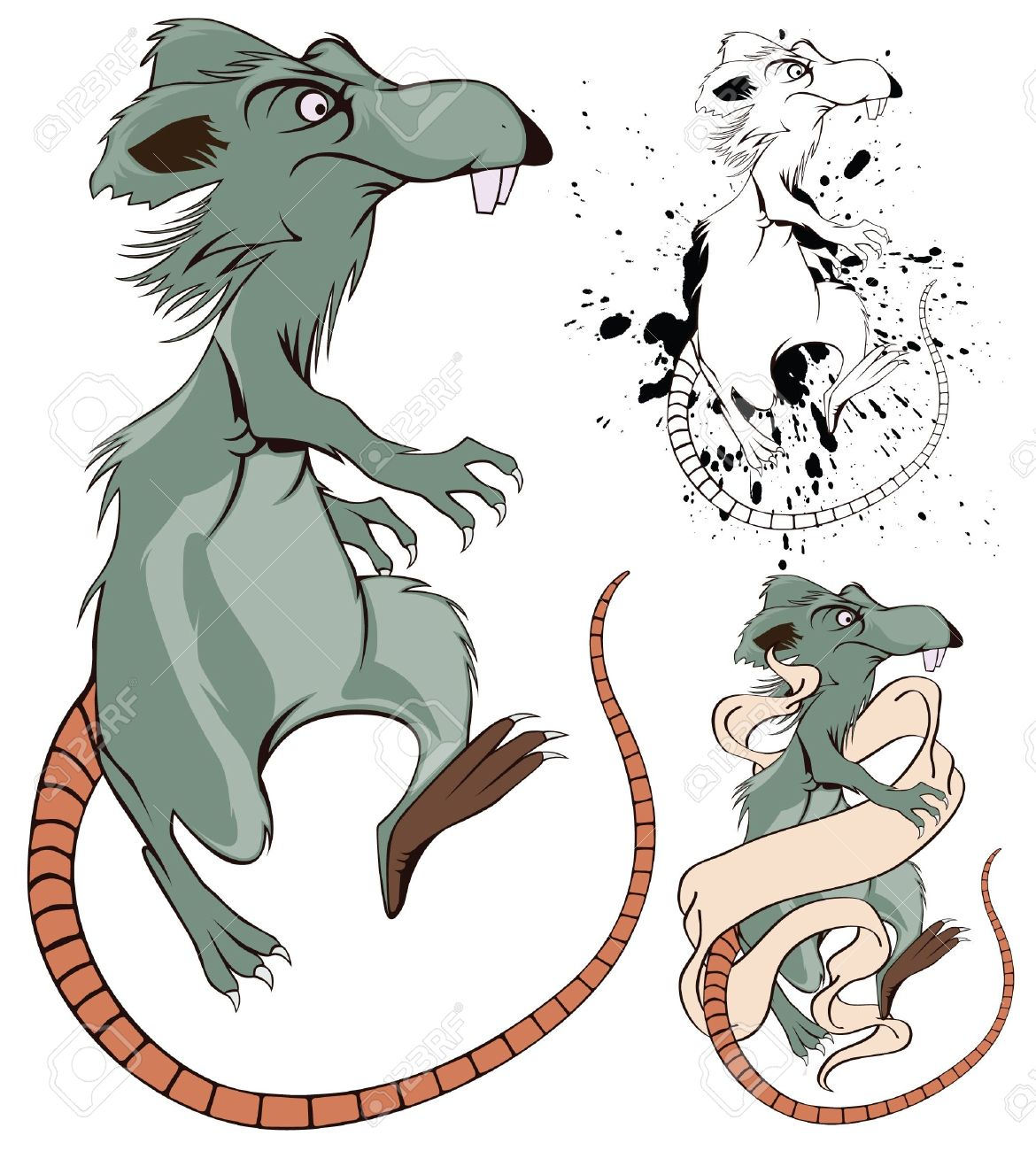 Vector Funny Cartoon Rat For Decoration And Design Royalty Free ...