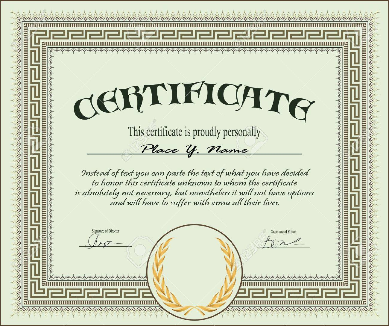 Blank stock certificate template free fundraising forms templates blank stock certificate stock photo risk management plan example 13807514 vintage frame certificate or diploma template yadclub Image collections
