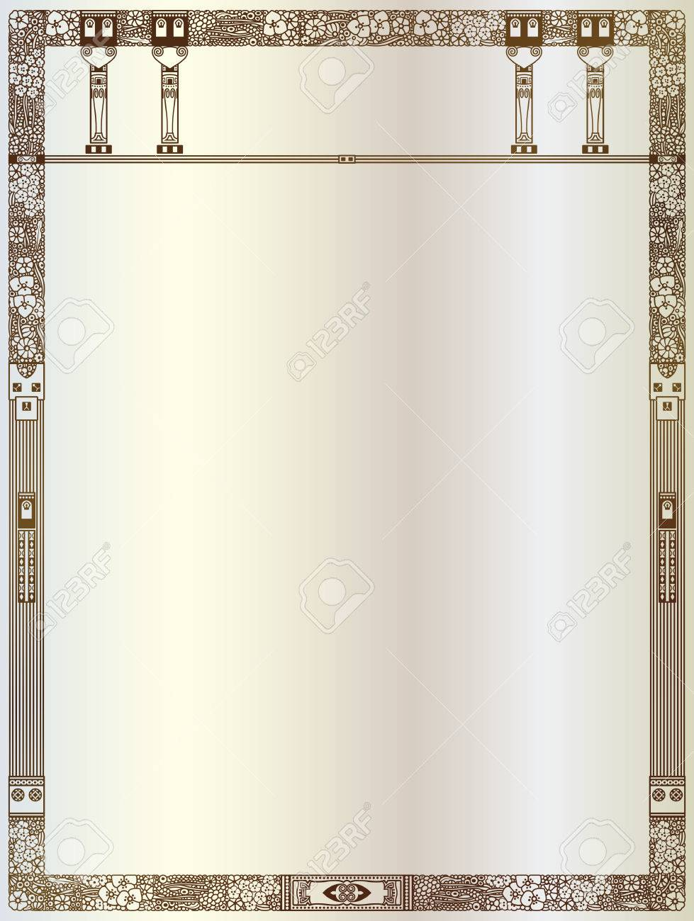 Luxury vector frame with border in greek style for advertisements luxury vector frame with border in greek style for advertisements wedding invitations or greeting jeuxipadfo Gallery