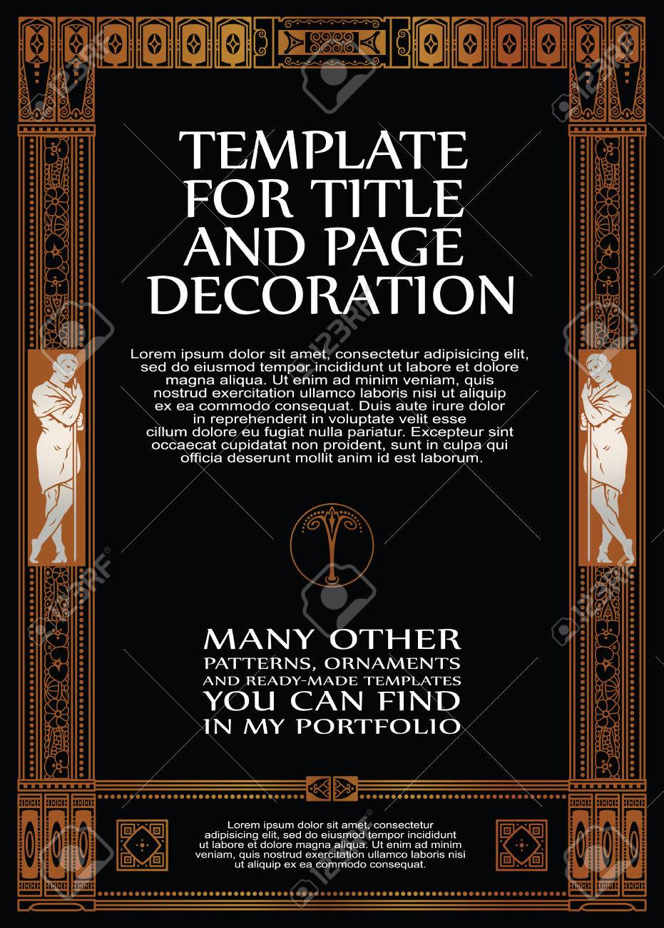 Luxury vector frame with border in greek style for advertisements luxury vector frame with border in greek style for advertisements wedding invitations or greeting m4hsunfo