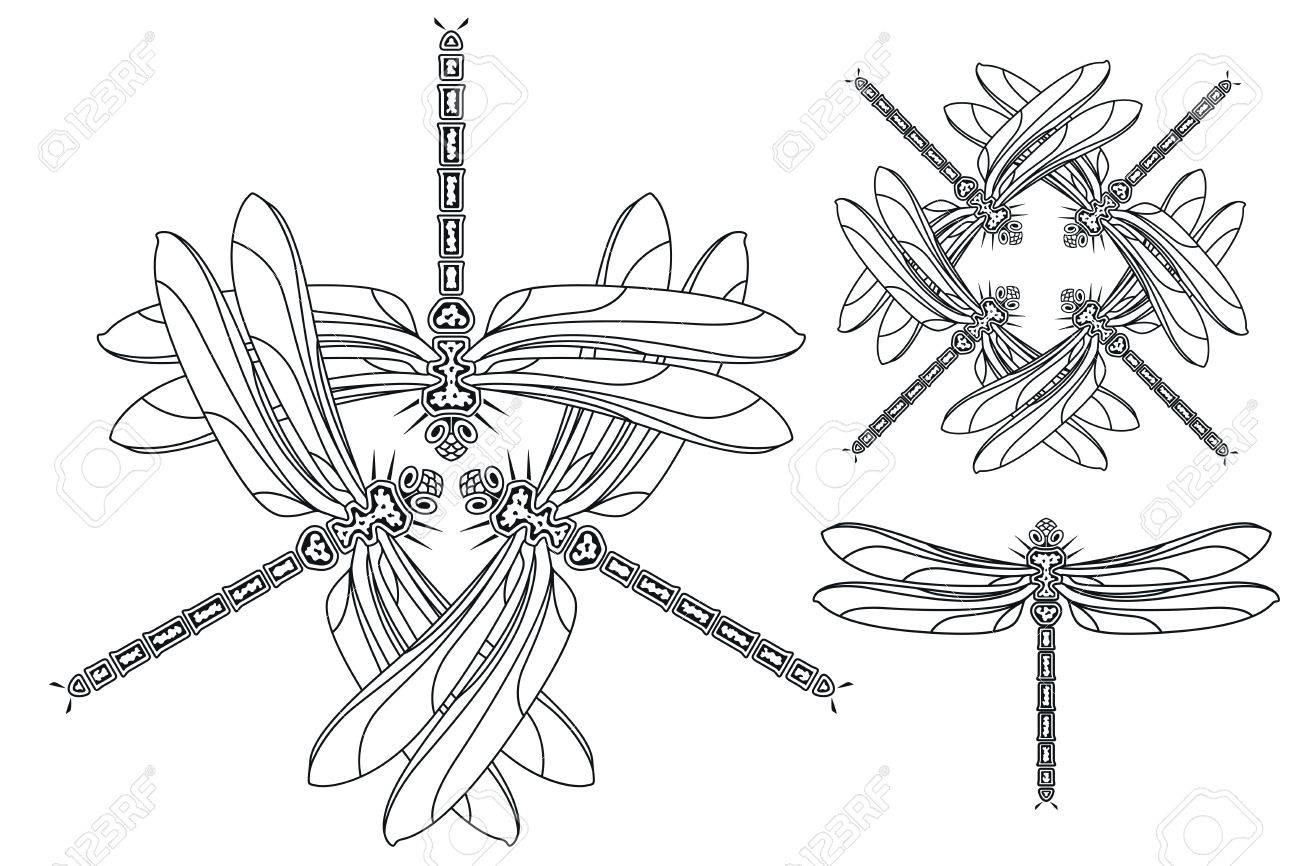 Ausgezeichnet Libelle Mandala Malvorlagen Zeitgenössisch - Beispiel ...