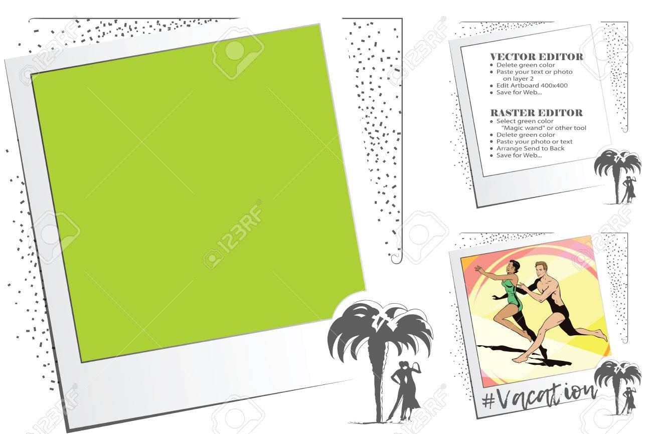 Frame For Scrapbook, Banner, Sticker And Other Design. Suitable ...