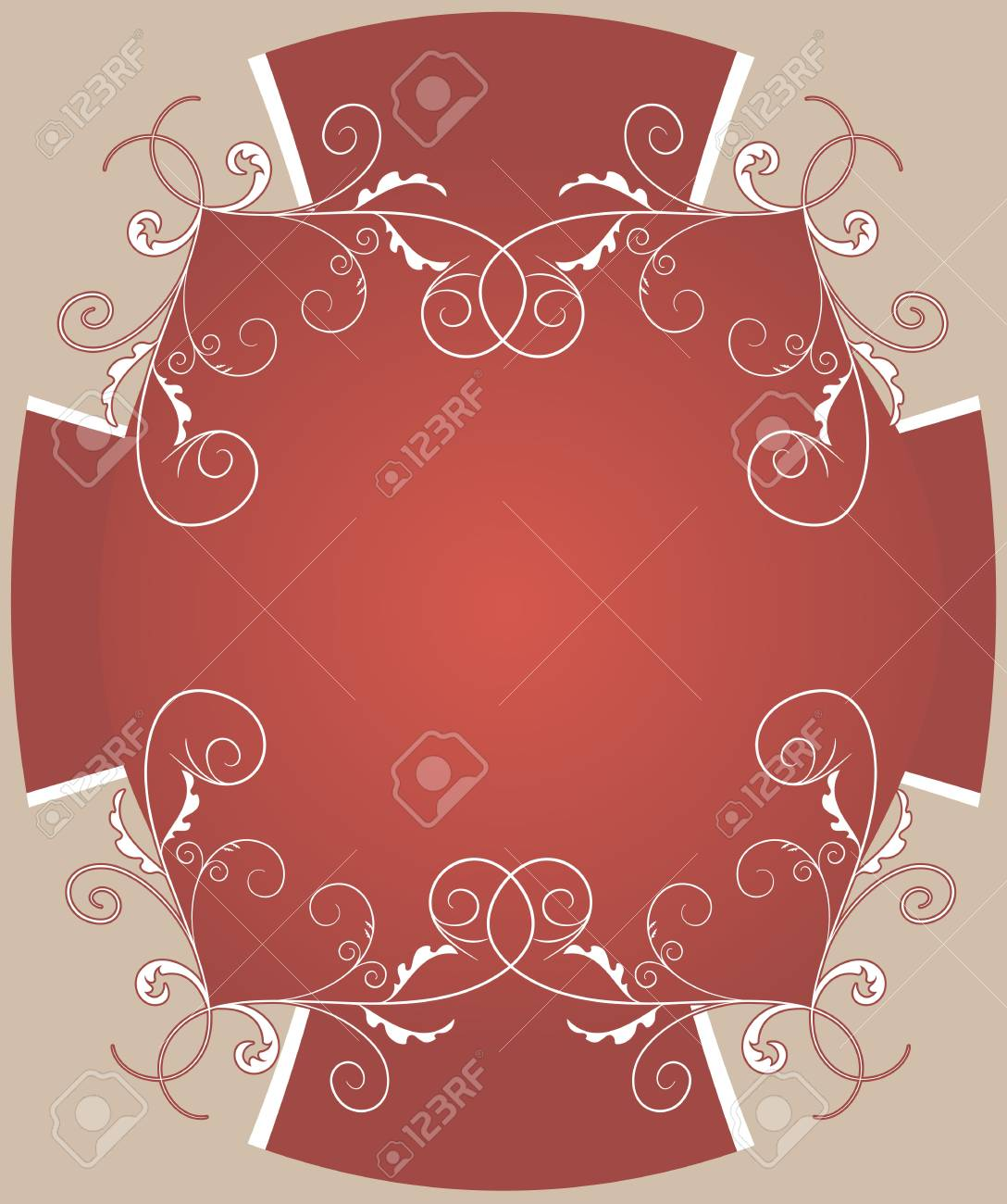 Template frame design for greeting card Stock Vector - 16268814