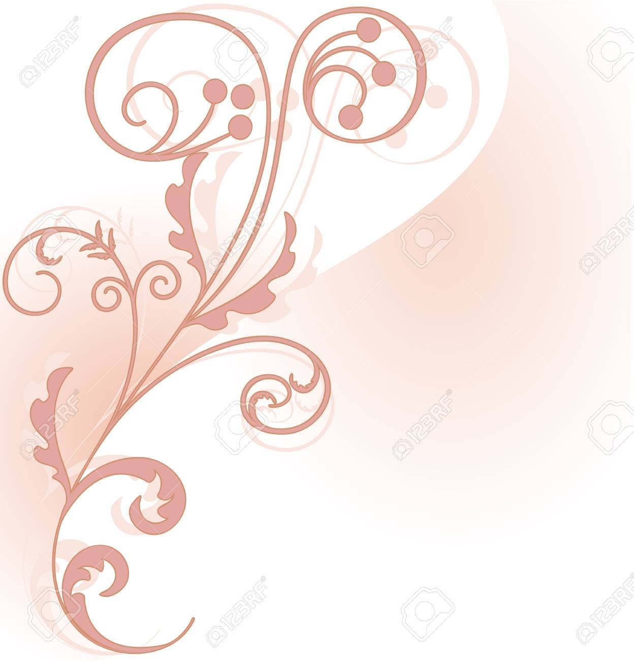 Pink floral corner piece on the background of two intersecting planes Stock Vector - 16270209