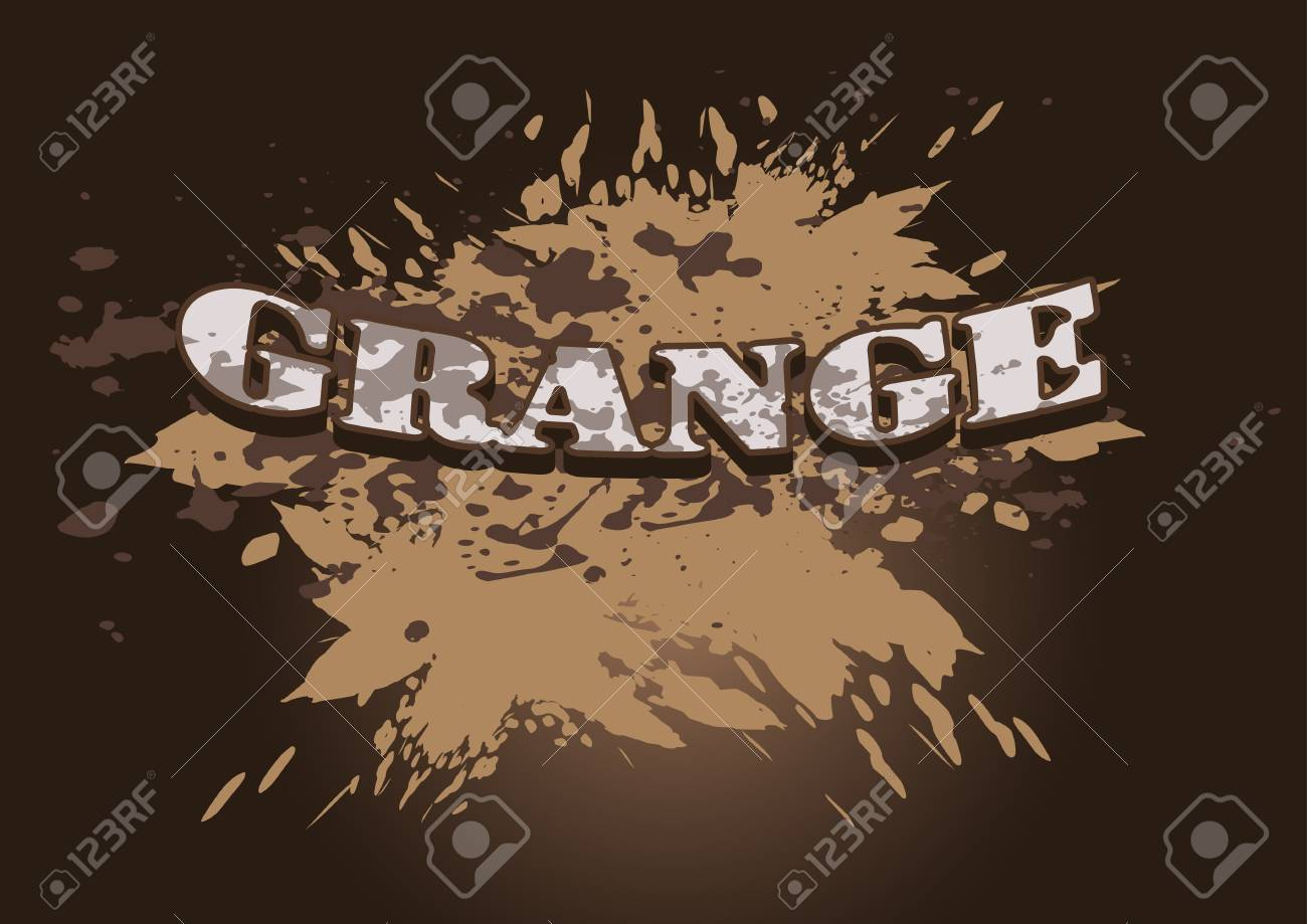 Label in grunge style on a background of rusty spots Stock Vector - 16721549