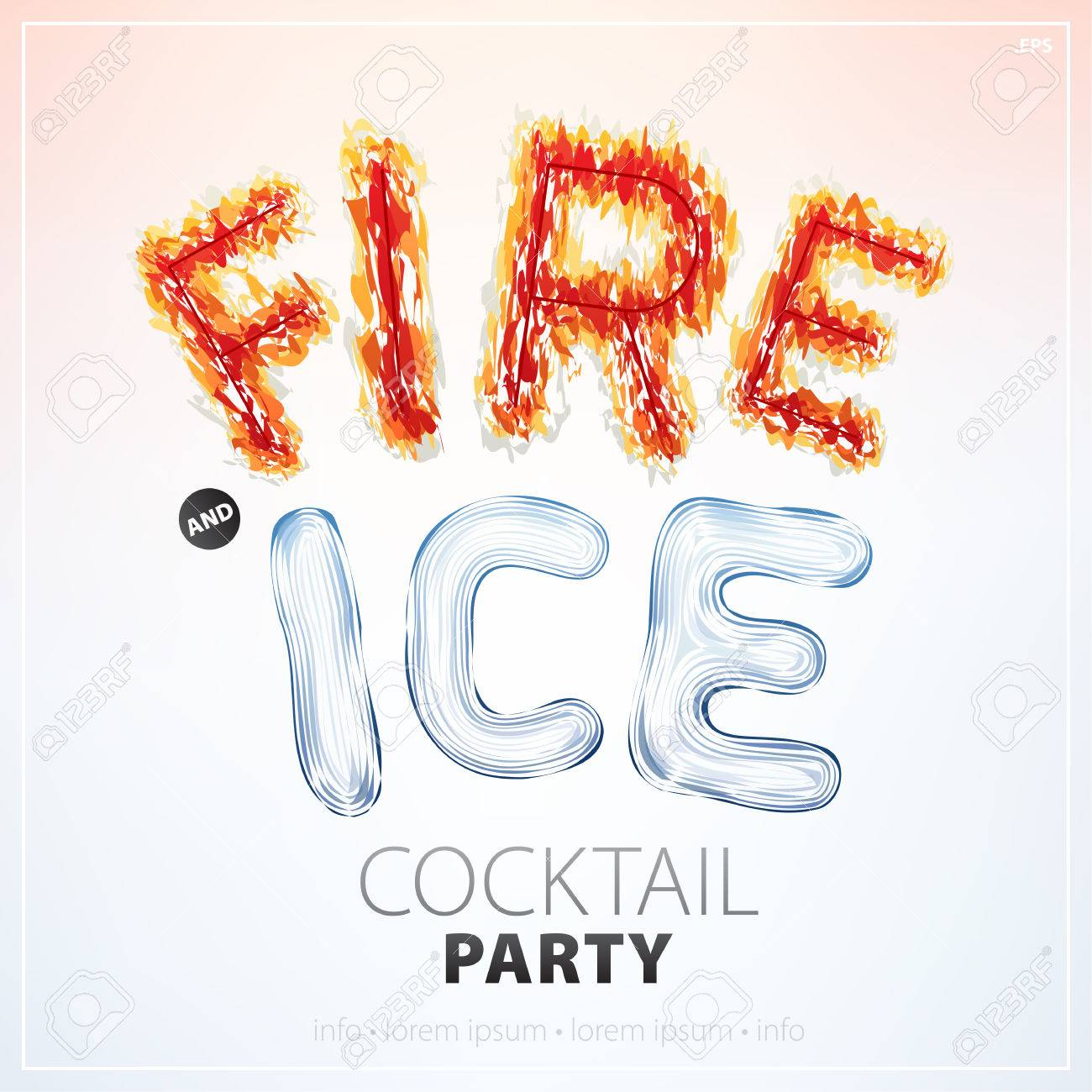 Fire And Ice Banner For A Cocktail Party Can Be Used On A Poster