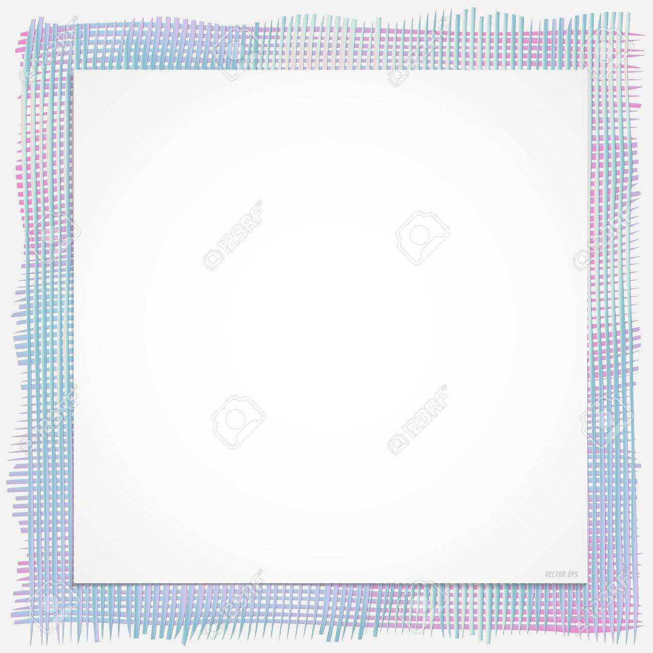 Hintergrund Linie Textil Rahmen In Verschiedenen Farben Ausgeführt    Hellblau, Dunkelrosa Und Grau,