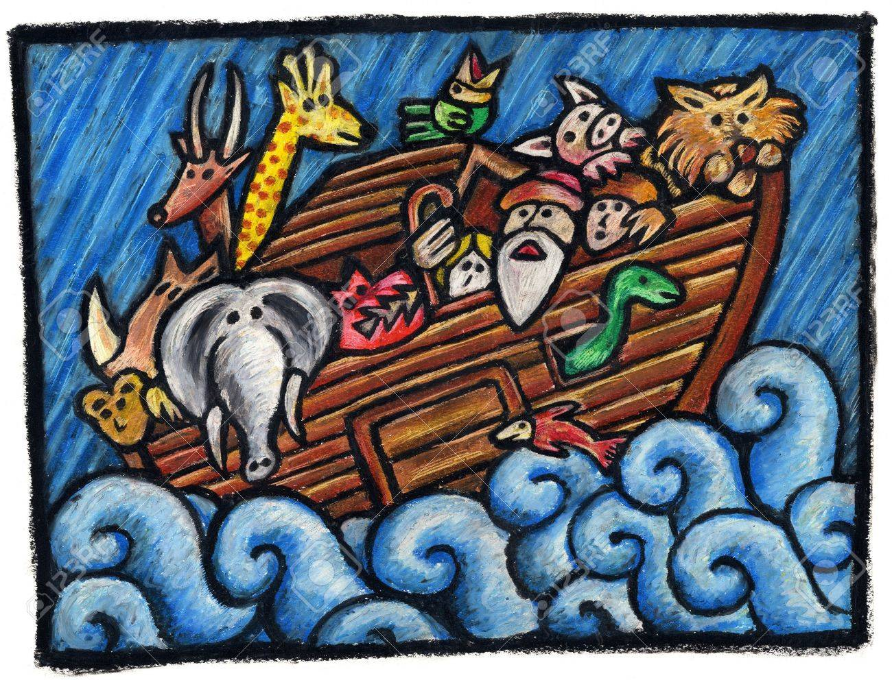 noah u0027s ark illustration noah u0027s animals are waiting for the end