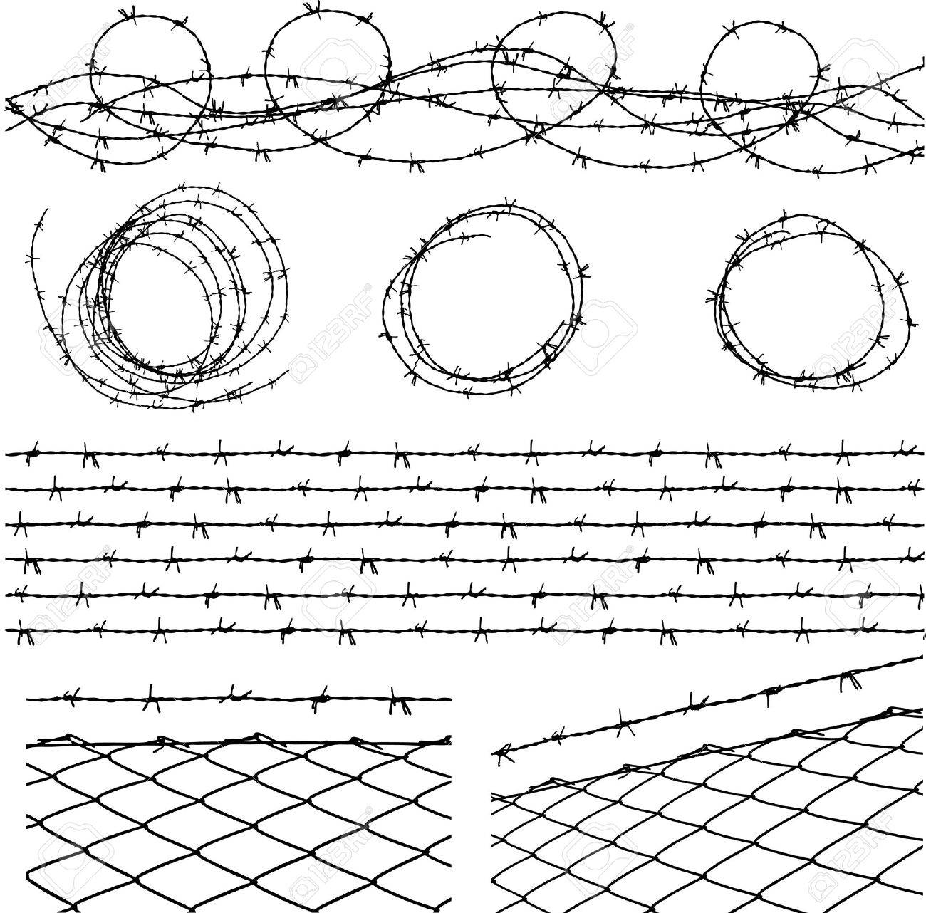 Some barbed wire elements with a barbed wire seamless module - 3513068