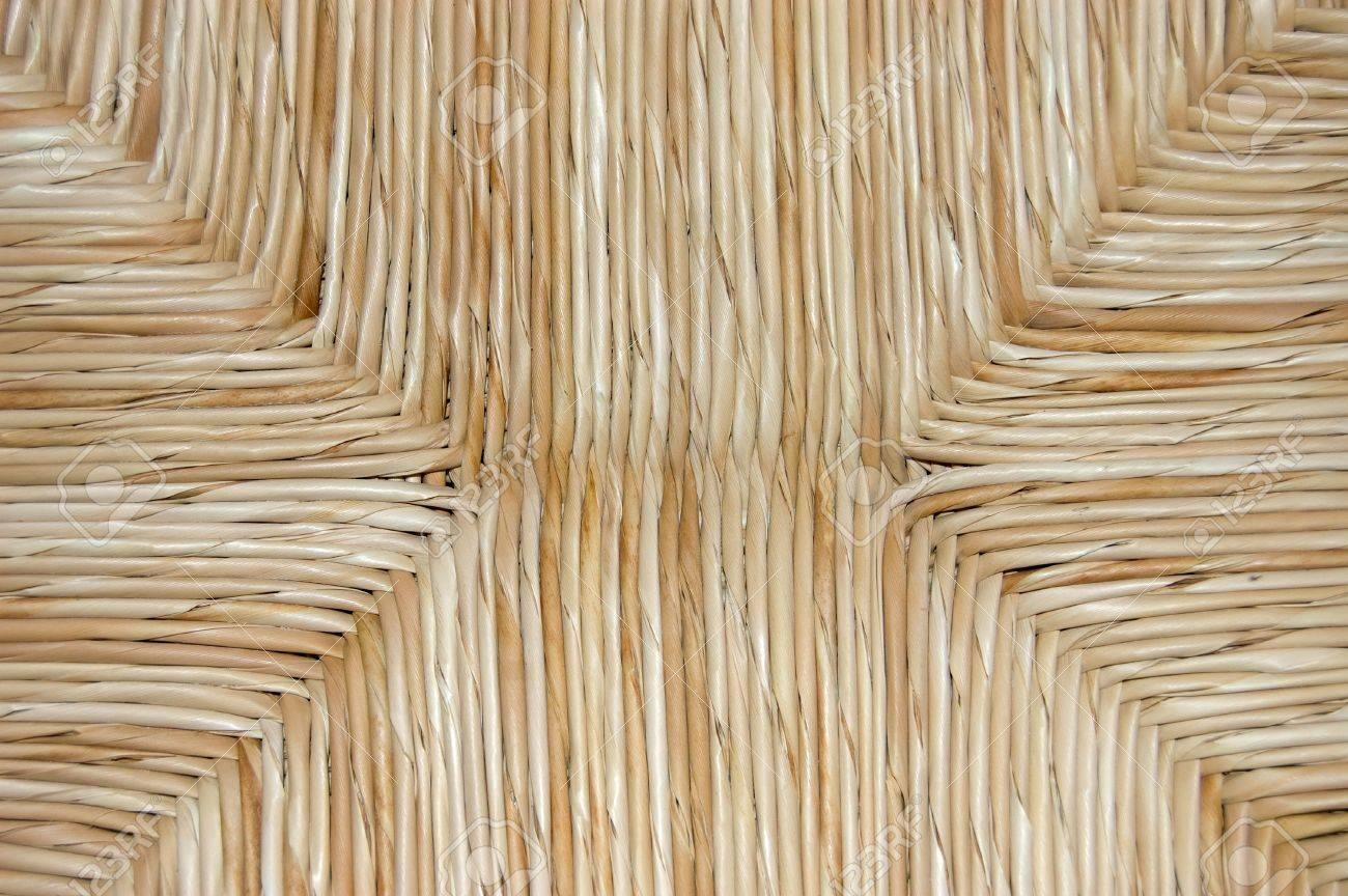 Beau Golden Yellow Straw Chair Cushion Texture Stock Photo   2120825