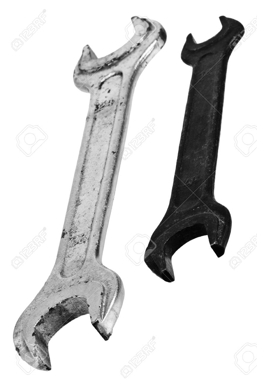Two spanners isolated on a white background Stock Photo - 5998937