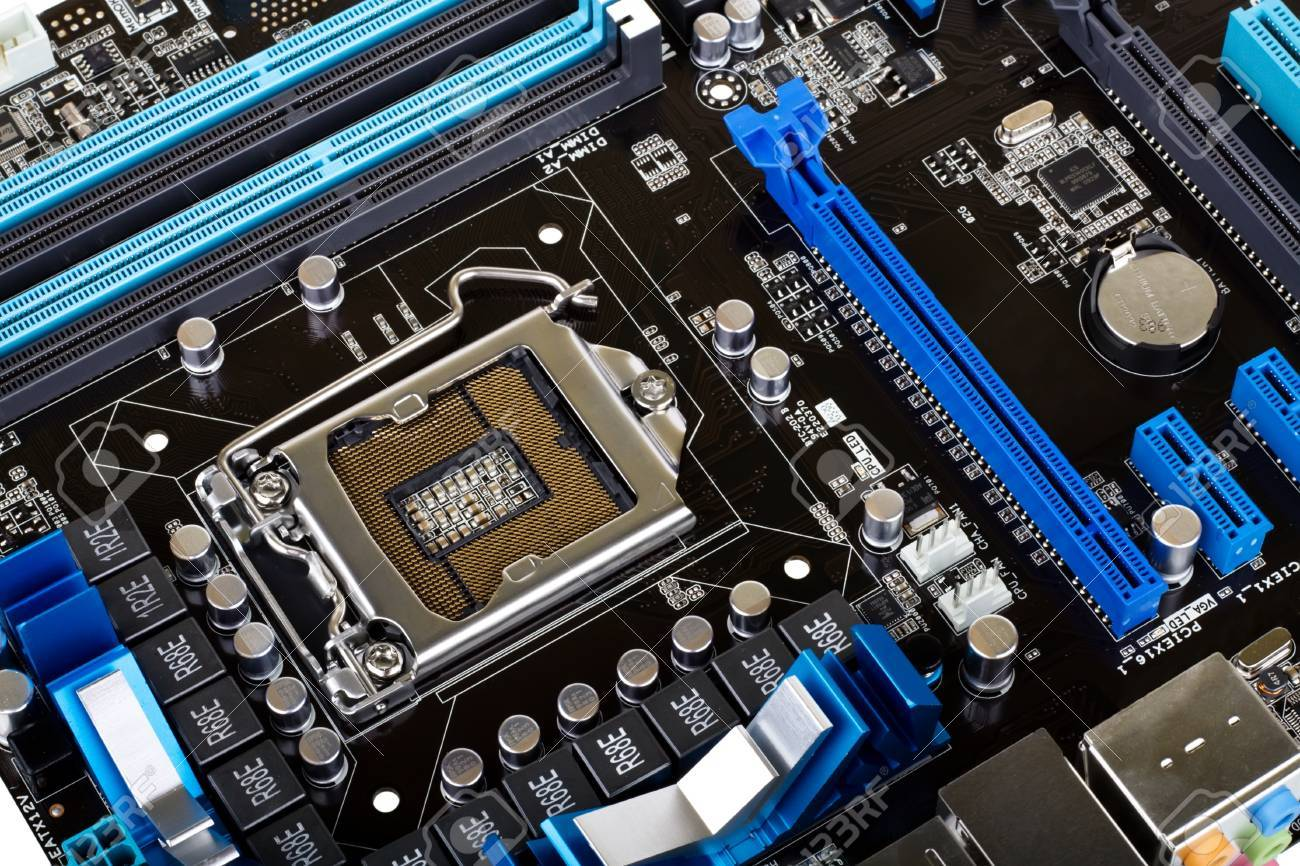 Modern motherboard Stock Photo - 8899987